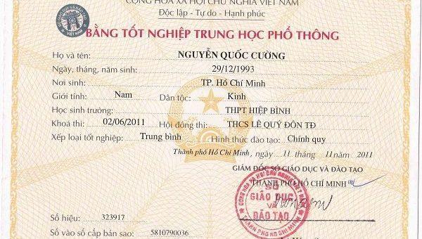 Dịch bằng tốt nghiệp, Dịch bảng điểm sang tiếng anh