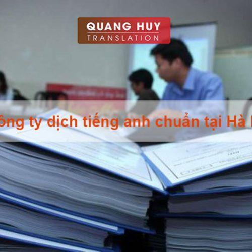 Công ty dịch thuật tiếng anh chuẩn tại Hà Nội