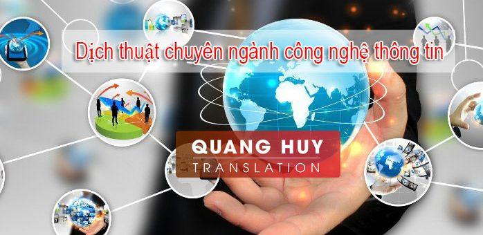 Dịch thuật chuyên ngành công nghệ thông tin