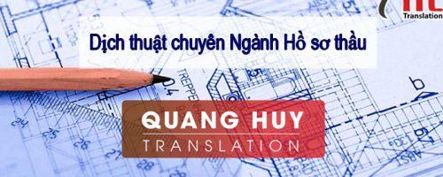 Dịch thuật chuyên ngành hồ sơ thầu