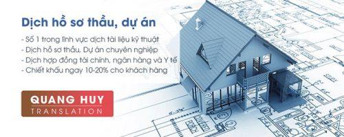 Dịch thuật chuyên ngành hồ sơ thầu xây dựng