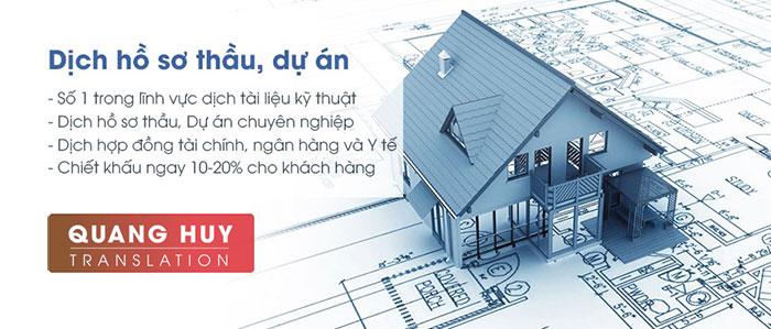 Dịch hồ sơ thầu, Dịch thuật chuyên ngành hồ sơ thầu xây dựng