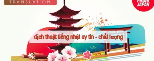 Dịch thuật tiếng nhật sang tiếng Việt