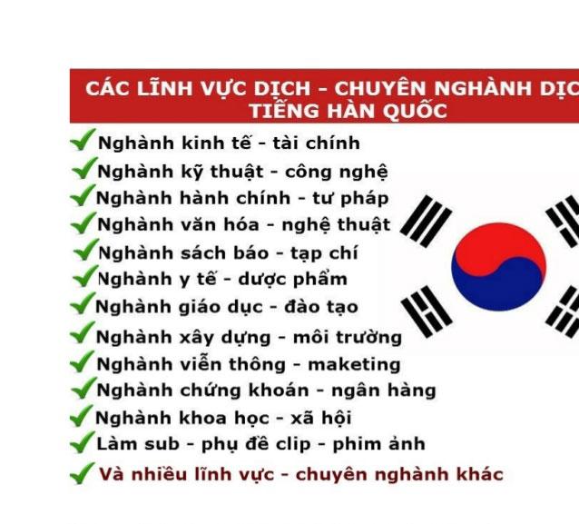 Chuyên Dịch tiếng hàn sang tiếng Việt