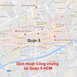 Dịch thuật công chứng quận 5 TPHCM