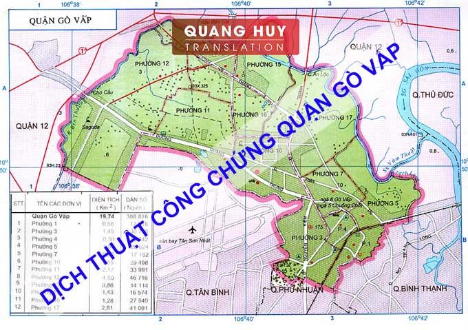 Dịch thuật công chứng tiếng Anh Quận Gò Vấp