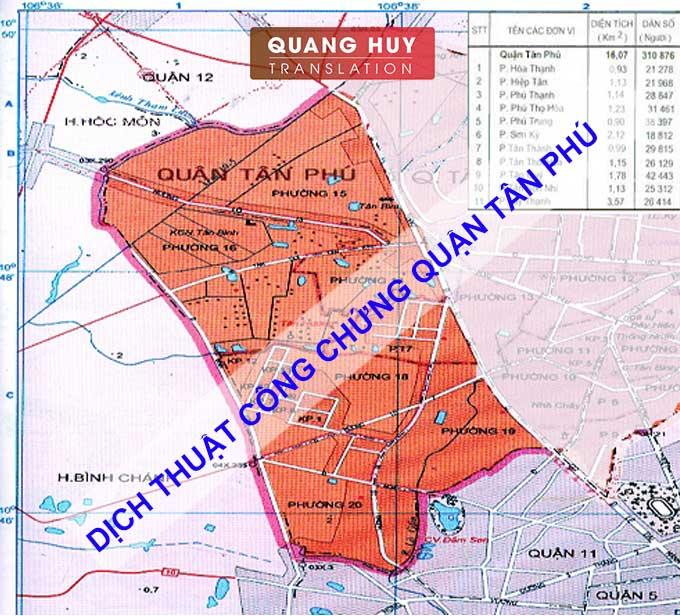 Công ty Dịch thuật tại Quận Tân Phú Tp HCM giá rẻ