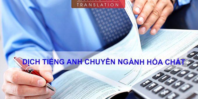 Dịch tiếng Anh chuyên ngành hóa chất