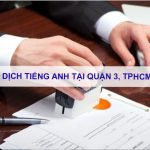 Dịch tiếng anh Quận 12, TPHCM