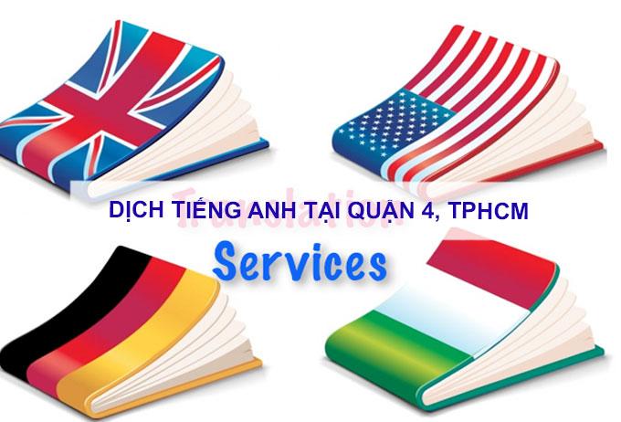 Dịch tiếng anh Quận 4, TPHCM