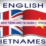 Dịch tiếng anh Quận 7, TPHCM