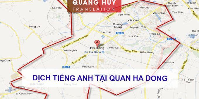 Dịch tiếng anh Quận Hà Đông, Hà Nội