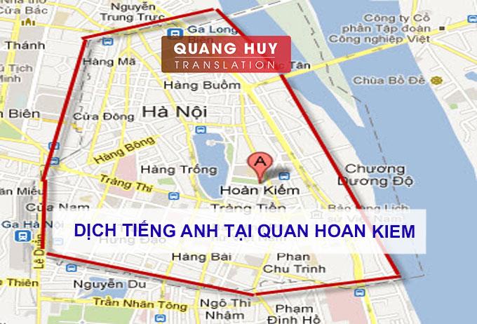 Dịch tiếng anh Quận Hoàn Kiếm, Hà Nội