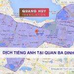 Dịch tiếng anh Quận Ba Đình, Hà Nội