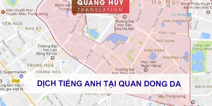 Dịch tiếng anh Quận Đống Đa, Hà Nội