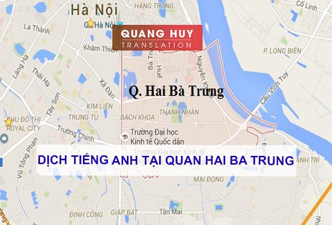 Dịch tiếng anh Quận Hai Bà Trưng, Hà Nội