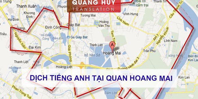 Dịch tiếng anh Quận Hoàng Mai, Hà Nội