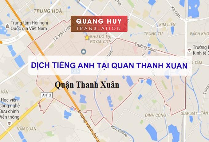 Dịch tiếng anh Quận Thanh Xuân, Hà Nội