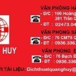 Địa chỉ dịch thuật công chứng uy tín tại Thành phố Hồ Chí Minh