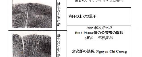 Mẫu Dịch thuật chứng minh thư sang tiếng Nhật Bản để xin Visa