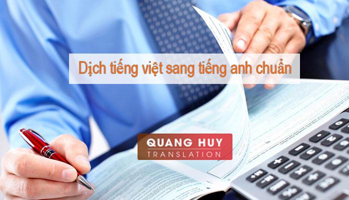 Dịch Tiếng Việt Sang Tiếng Anh chuẩn xác nhất