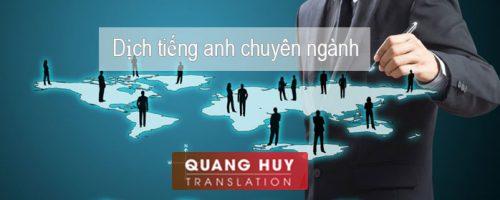 Dịch thuật tài liệu tiếng anh chuyên ngành