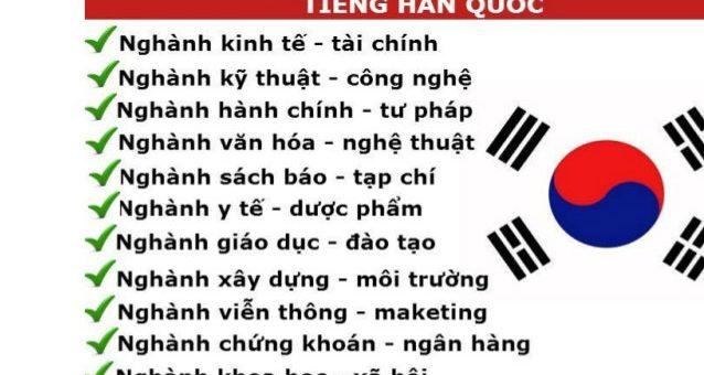 Dịch tiếng Hàn Sang tiếng Việt chuyên nghiệp