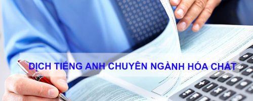 Dịch tài liệu tiếng Anh chuyên ngành hóa chất