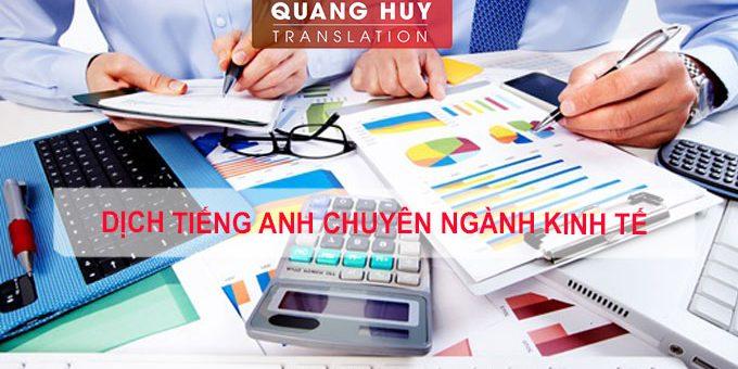 Dịch chuyên ngành kinh tế