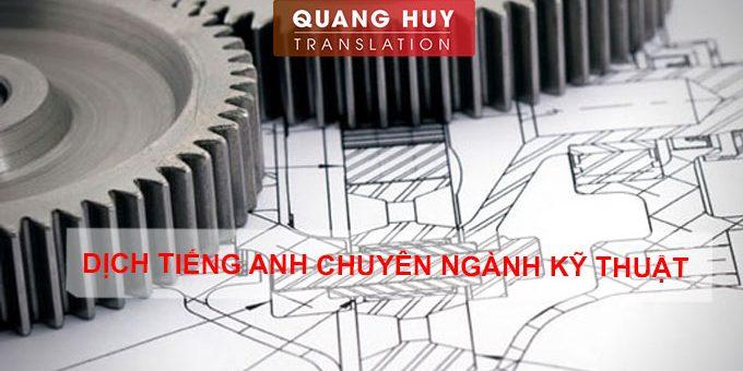 Dịch chuyên ngành kỹ thuật
