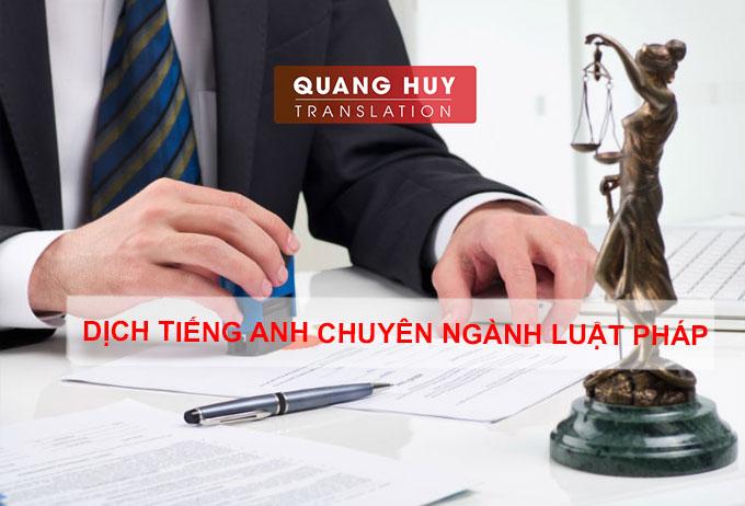 Dịch tiếng anh chuyên ngành luật pháp