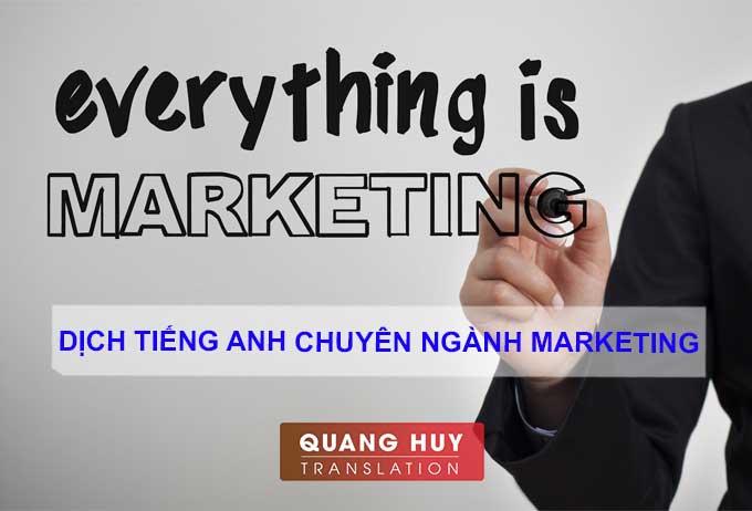 Dịch tiếng anh chuyên ngành Marketing