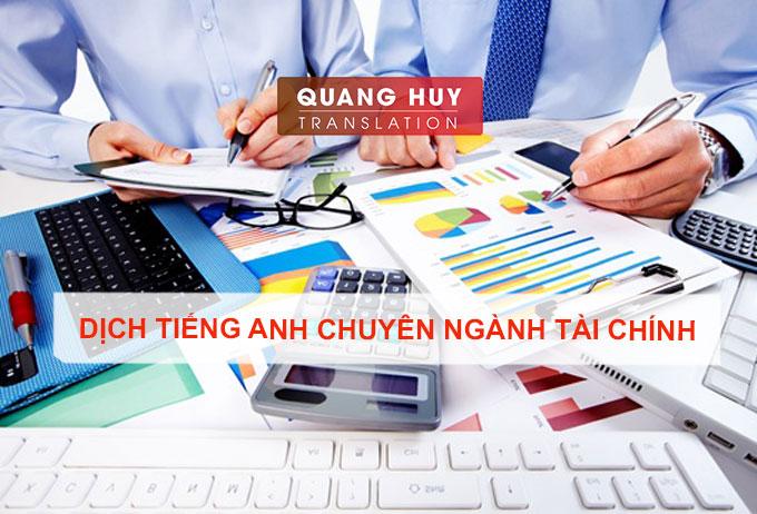 Dịch tiếng anh chuyên ngành tài chính